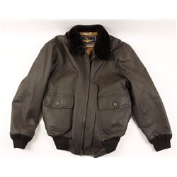 Navy Airborne Leathers Jacket