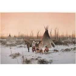 "Michael Coleman Print Entitled ""Milk River Camp"""