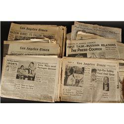 Vintage Newspapers.
