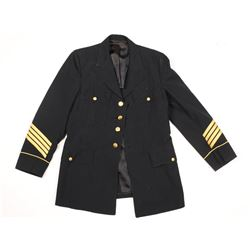 Men's Black Military Style Jacket.
