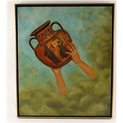 Print on Canvas of a Greek Urn