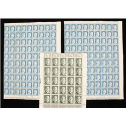 Lot of 3 Sheets of German WWII Hitler Stamps