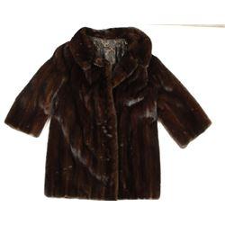 Brown Lady's Fur Coat