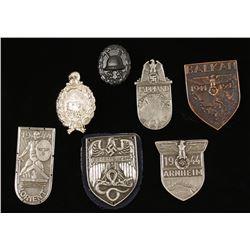 Repro Nazi Shield Pins & Wound Badge