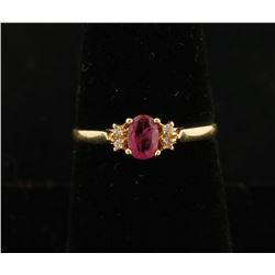 Ladies Ruby and Diamond Ring Set