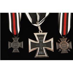 Repro Iron Cross & 2 Service Crosses