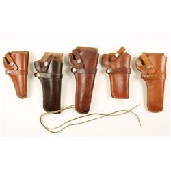 Lot of 5 Western Holsters