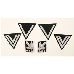 Repro Nazi Rank Patches & Collar Patches