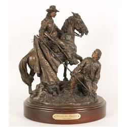 """""""Advance the Standard"""" statue by Ron Tunison"""