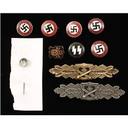 Lot of German WWII Army & Political Badges.