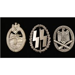 Lot of 3 German WWII Badges.