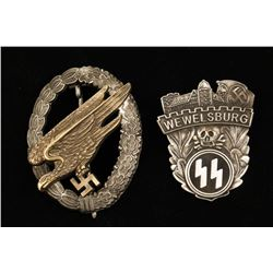 Lot of 2 German WWII Badges.