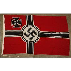 German WWII Military Combat Swastika Battle Flag.
