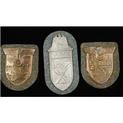 Lot of German WWII Army Sleeve Shields.