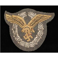 German WWII Luftwaffe Bullion Pilot Observer Badge