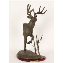 """NWTF Statue """"Moon Walk"""" Buck"""