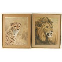 Lot of 4 African Wildlife Prints