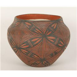 Early Native American Bowl with Floral Swirl