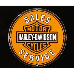 Harley Davidson Motorcycles Porcelain Sign.