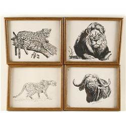Lot of 15 Fine Art African Animal Prints