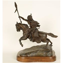 Fine Art Bronze by Noted Western Artist Sid Burns.