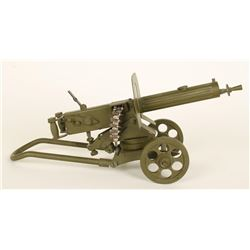 Miniature Model of a WWI Machine Gun.