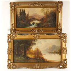 Lot of 2 Original Oils on Canvas