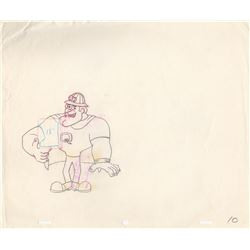 Two Production Drawings of Quake the Cartoon Mascot for Quake Cereal