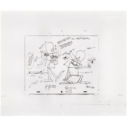 Original Model Cel & Storyboard Prints for Motorola Commercial