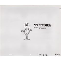 Collection of 1966 Production Cels & Drawings for Northwestern Mutual Commercial