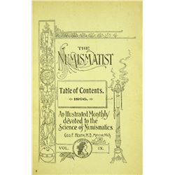 1896 Volume of the Numismatist