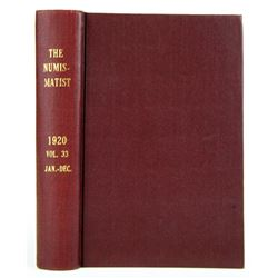 1920 Volume of the Numismatist
