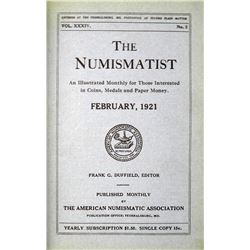 1921 Volume of the Numismatist