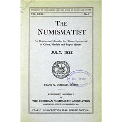 1922 Volume of the Numismatist