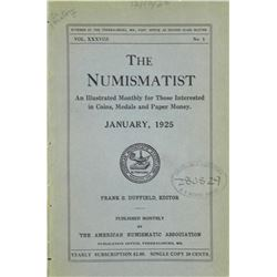 1925 Volume of the Numismatist