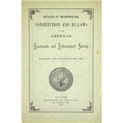 1878 ANS Constitution & By-Laws