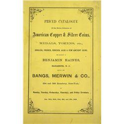 The 1863 Benjamin Haines Sale