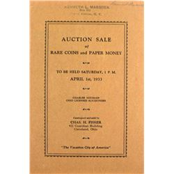 1933 Fisher Sale with Original Invoice