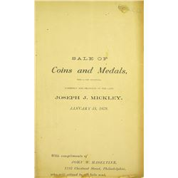 Haseltine's 1879 Mickley Sale