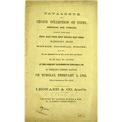 Scarce 1861 Leonard Sale