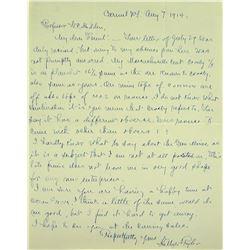 Handwritten Letter from Hillyer Ryder on Massachusetts Coppers