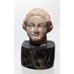 A Roman marble head of a lady
