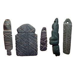 5 Coptic steatite amulets, c. 5th– 7th Century AD