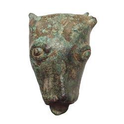 A bronze Gallic bull's head