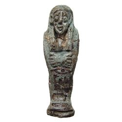 A nice Egyptian pale blue faience ushabti