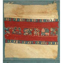 A very attractive and colorful Egyptian Coptic textile