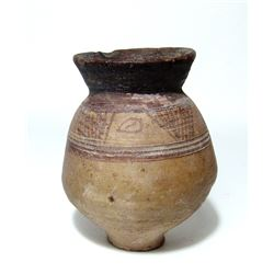 A choice Coptic ceramic jar, Roman Egypt