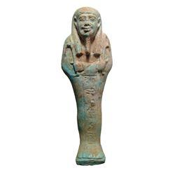 A choice Egyptian faience ushabti