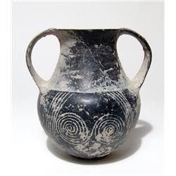 An Etruscan Bucchero amphora