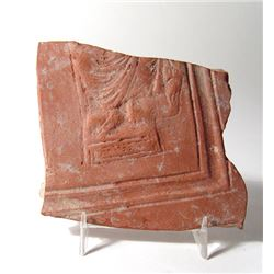 Roman red-ware Lanx fragment with The Apostle Paul